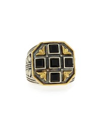 Black Onyx Square Ring Konstantino