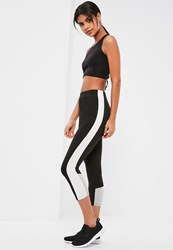 Missguided Active Black Contrast Sports Leggings