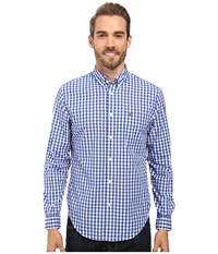 Lacoste Segment 1 Long Sleeve Gingham Check Steamer White Men's Clothing Blue