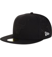 New Era 59Fifty Chicago Bulls Perforated Fitted Cap Black