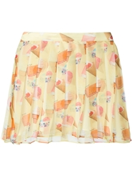 Au Jour Le Jour Candy Print Mini Skirt