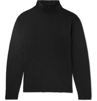 Our Legacy Cotton Jersey Rollneck Top Black