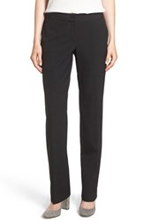 Halogenr Petite Women's Halogen 'Taylor Ela' Straight Leg Suit Pants Black
