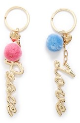 Topshop Women's 2 Pack Peace And Love Key Rings