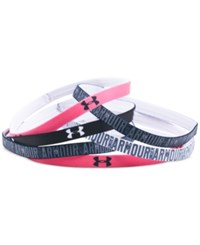 Under Armour 6 Pk. Mini Graphic Headbands Black Pink Sky