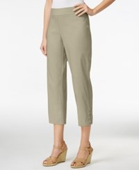 Jm Collection Pull On Cropped Pants Only At Macy's Stonewall