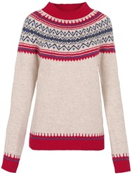 Fat Face Islay Fair Isle Jumper Ivory