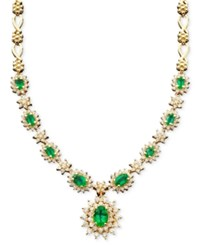 Effy Collection Royalty Inspired By Effy Sapphire 4 3 8 Ct. T.W. And Diamond 1 2 3 Ct. T.W. Pendant In 14K White Gold Emerald