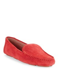 Karl Lagerfeld Veron Suede Loafers Coral Red