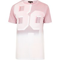 River Island Mens White And Red Number Print T Shirt