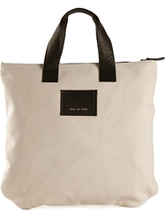 Common Projects Logo Patch Tote White