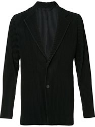 Homme Plisse Issey Miyake Tailored Pleated Blazer Black