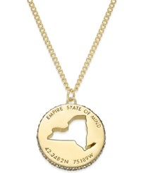 Kate Spade New York State Of Mind Gold Tone State Cutout Pendant Necklace