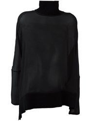 Ann Demeulemeester Funnel Neck Blouse Black