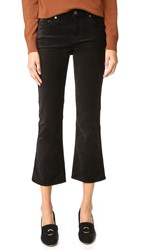 7 For All Mankind Cropped Boyfriend Pants Black Velvet