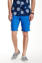Ganesh Regular Fit Linen Short Blue