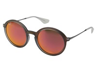 Ray Ban Rb4222 50Mm Red Rubberized Orange Mirror Fashion Sunglasses
