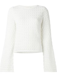 See By Chloe Circle Knit Jumper White