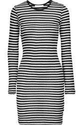 Kain Label Decker Striped Modal Dress Black