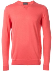 Laneus Crew Neck Sweater Pink And Purple