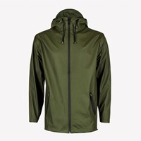 Rains Green Waterproof Breaker Jacket