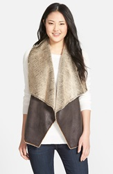 Marc New York 'Blake' Faux Shearling Vest Online Only Espresso