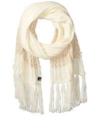 Tommy Hilfiger Chunky Beaded Border Scarf White Scarves