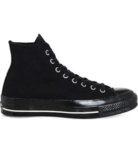 Converse All Star High Top Canvas Trainers Black Egret Wool