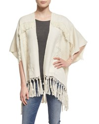 Figue Magda Infinity Striped Shawl Ivory