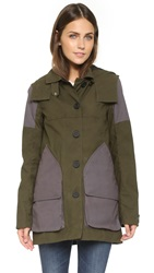 Hunter Womens Original Wax Hunting Coat Swamp Green Dark Slate