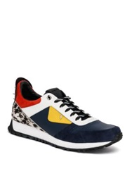 Fendi Bugs Calf Hair And Leather Sneakers Multicolor