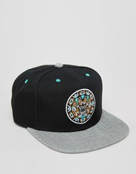Mitchell And Ness Snapback Cap Greytist Vancouver Grizzlies Black