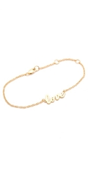 Jennifer Zeuner Jewelry Cursive Love Bracelet Gold