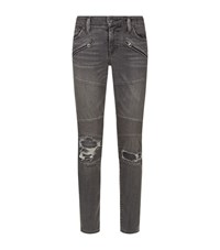 Denim And Supply Ralph Lauren Morgan Skinny Biker Jeans Female Grey