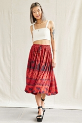 Urban Renewal Vintage Overdyed Midi Skirt Peach