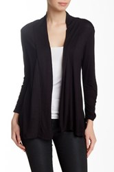Hip Ray Slub Ruched Cardigan Black