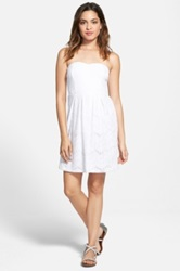 Painted Threads Lace Strapless Skater Dress Juniors White