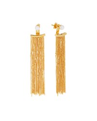 Vita Fede Gold Dipped Pearl Fringe Drop Earrings Women's
