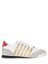 Dsquared 10Mm Leather And Suede Sneakers
