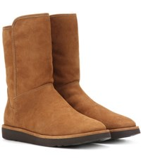 Ugg Abree Short Ii Fur Lined Suede Ankle Boots Brown