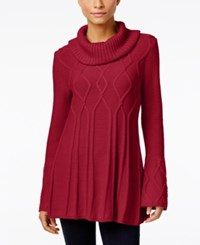 Styleandco. Style Co. Cowl Neck Tunic Sweater Only At Macy's Red