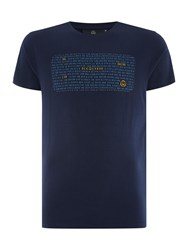 Duck And Cover Redwood T Shirt French Navy