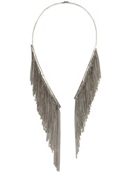Emanuele Bicocchi Chain Fringe Necklace Metallic