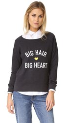 Drybar Big Hair Big Heart Raglan Pullover Black