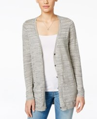 G.H. Bass And Co. Long Sleeve Button Down Cardigan Oatmeal