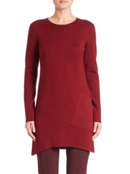 Akris Cashmere And Silk Knit Tunic Miracle Berry