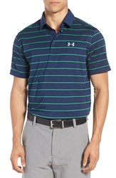 Under Armour Men's 'Coldblack Swing' Golf Polo Academy Putting Green Steel