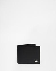 Lacoste Leather Billfold Wallet Black