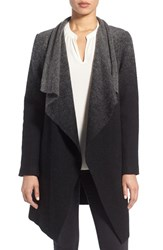 Bb Dakota Women's 'Kinney' Ombre Drape Front Coat Black