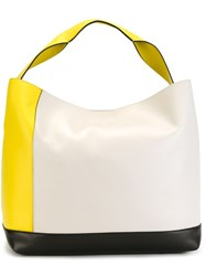 Marni Colour Block Tote Yellow And Orange